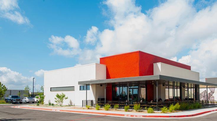 Commercial restaurant building